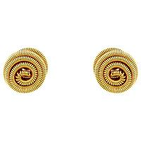 Monet Spiral Ball Stud Earrings, Gold