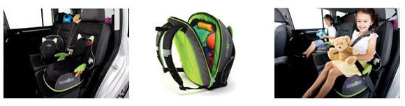 The BoostApak booster seat rucksack