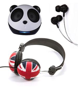 Skinnydip headphones and 'Polar Bear' speaker